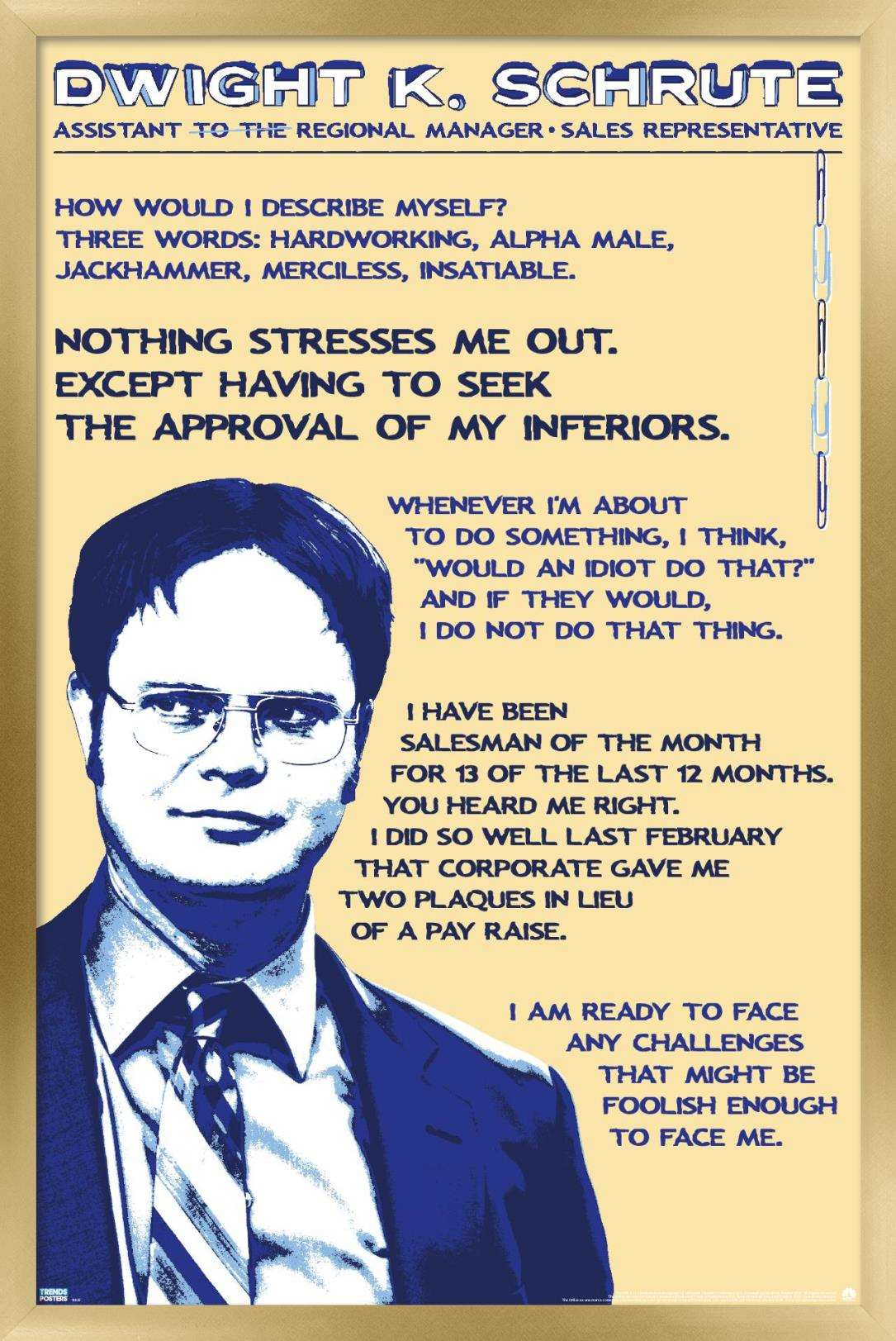 the office dwight schrute quotes poster