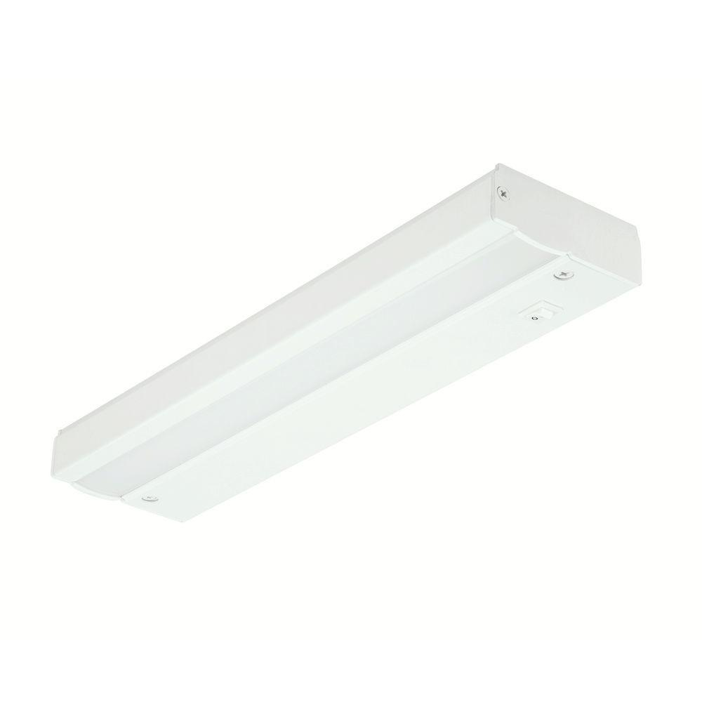 commercial electric 12 in white led direct wire under cabinet light