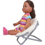 My Life As Fluffy Saucer Chair White For 18 Dolls Walmart Com Walmart Com