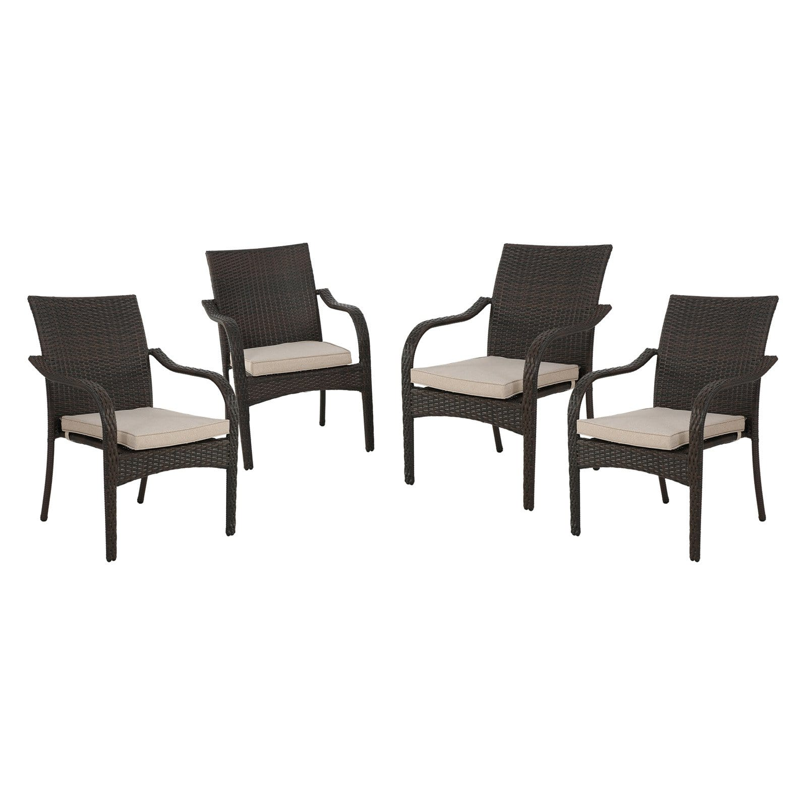 solomon wicker stacking chairs set of 4