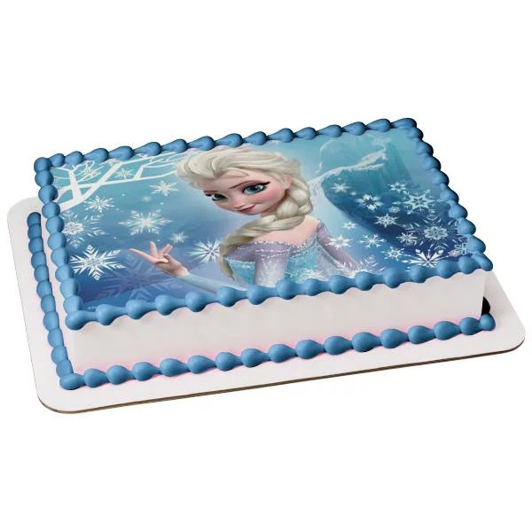 Frozen Elsa Anna Edible Image Photo Cake Topper Sheet Birthday Party 1 4 Sheet Abpid51044 Walmart Com Walmart Com
