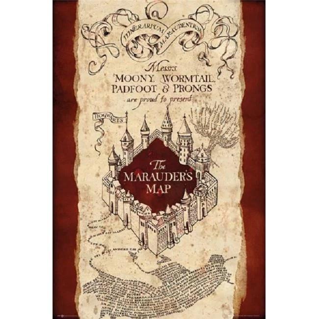 harry potter marauders map poster print 24 x 36 walmart com
