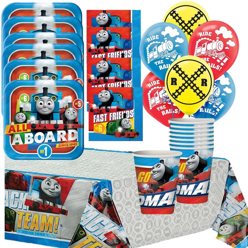Thomas The Train Deluxe Birthday Party Supplies For 16 Guests With Balloons Walmart Com Walmart Com