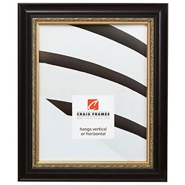 craig frames 24x36 poster frame ornate finish 1 5 wide ornate gold black 8335 poster walmart com