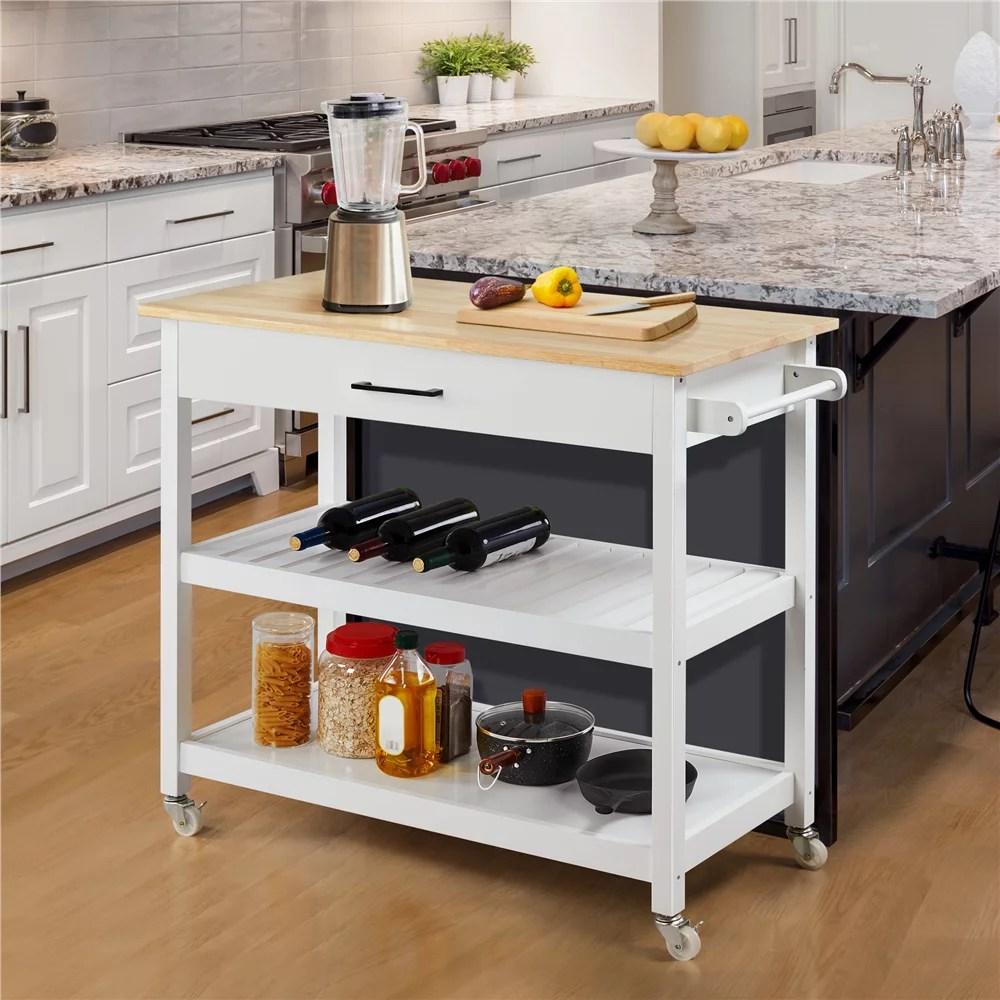 espresso 3 tier rolling microwave cart