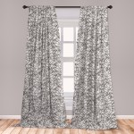 Black And White Curtains 2 Panels Set Abstract Sea Storm With Curly And Striped Waves Doodle Stream Water Flow Window Drapes For Living Room Bedroom Black White By Ambesonne Walmart Com