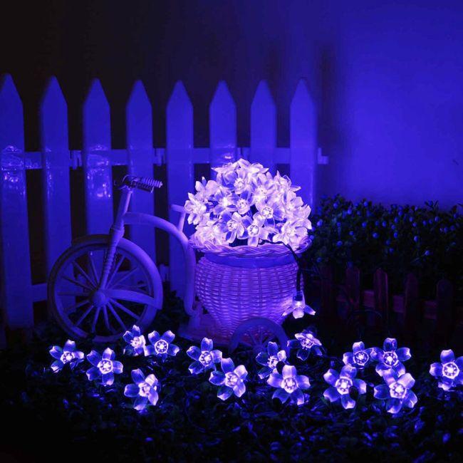 AGPtek Waterproof 50 LED Solar Powered Blossom String Lights for Gardens Lawn Patio Christmas Trees