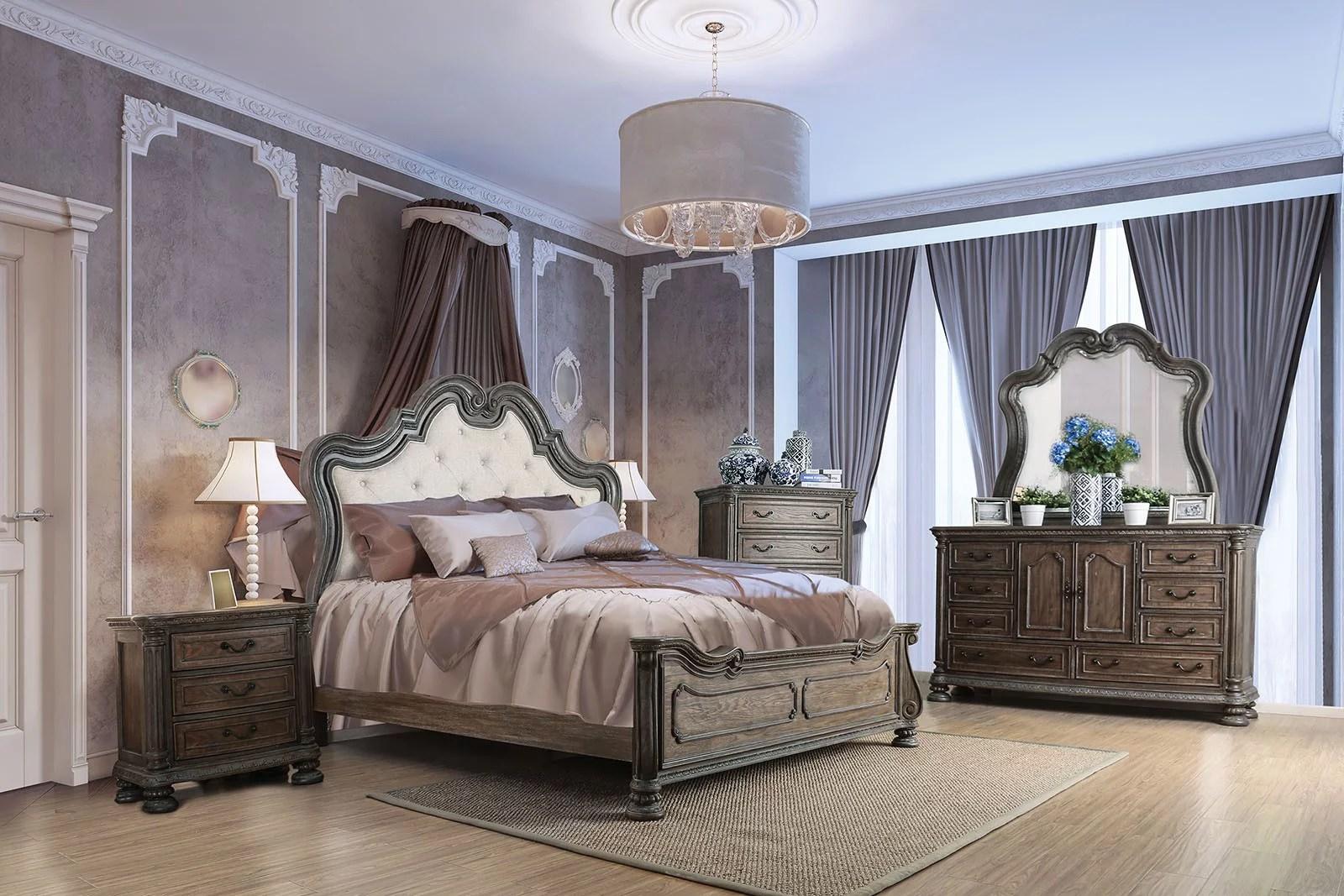 traditional bedroom furniture 4pc set