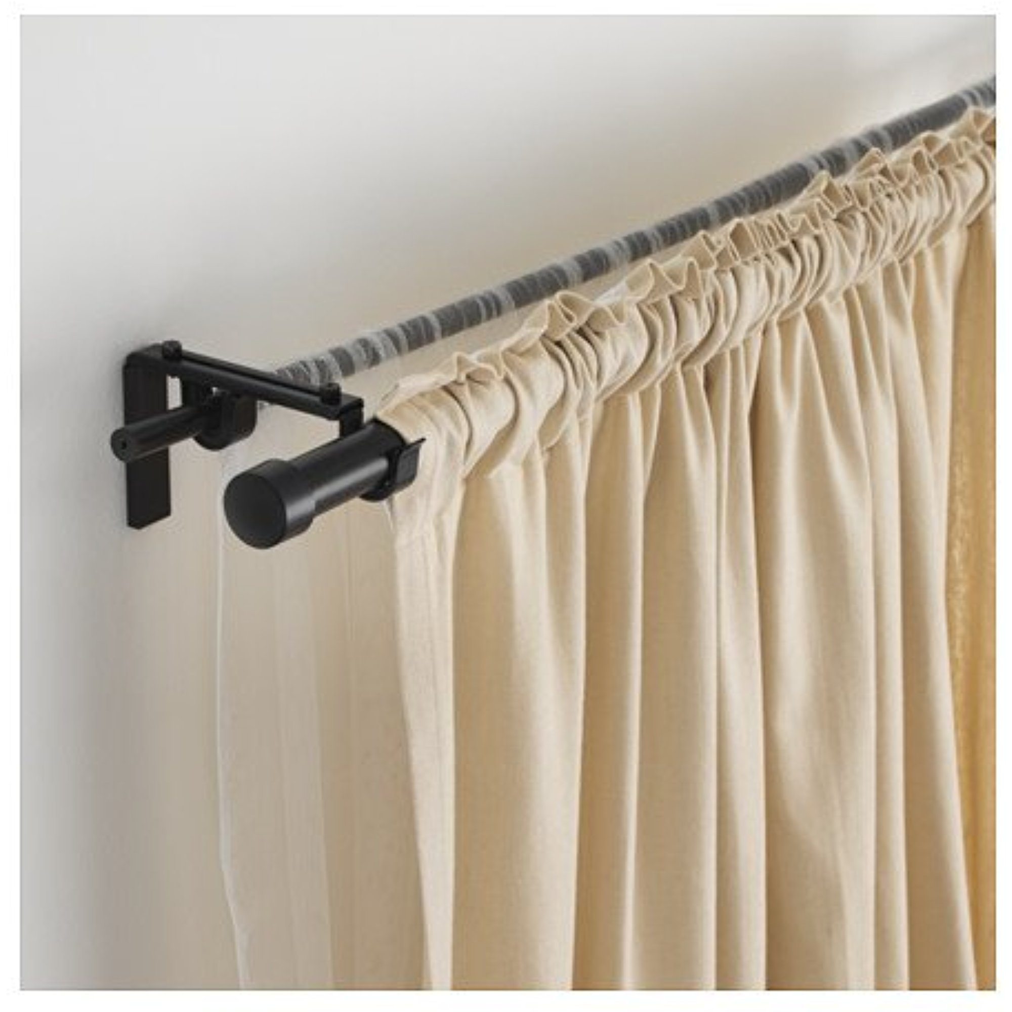 ikea double curtain rod combination black 142020 8298 1830