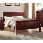 Acme Furniture Louis Philippe Sleigh Bed Walmart Com Walmart Com