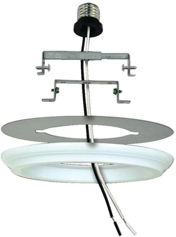 westinghouse 0101100 white plastic recessed lighting converter