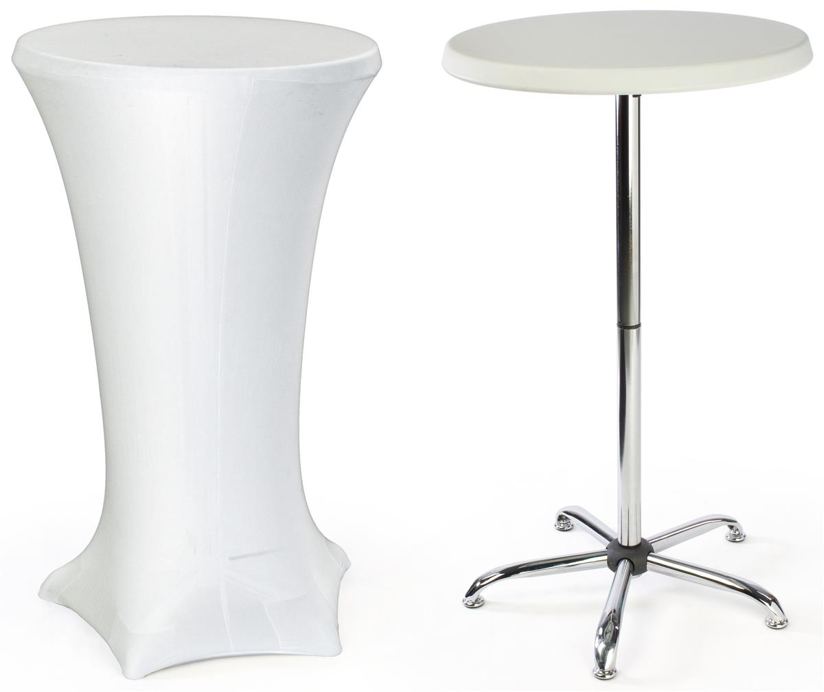 displays2go cocktail tables feature a spandex cover and a portable design walmart com