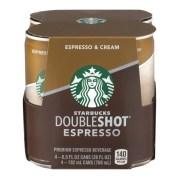Starbucks Doubleshot Espresso & Cream, 6.5 Fl. Oz, (4-Pack) - Walmart.com -  Walmart.com