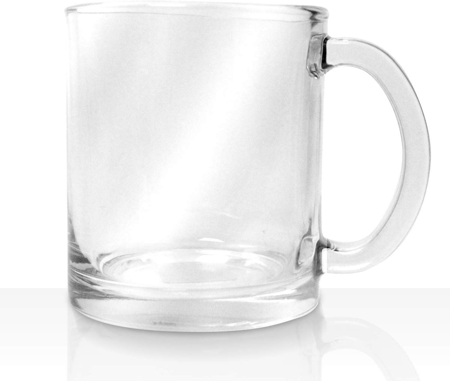 vikko 10 75 ounce glass coffee mugs thick and durable for coffee tea cider etc microwave and dishwasher safe set of 6 clear glass mugs