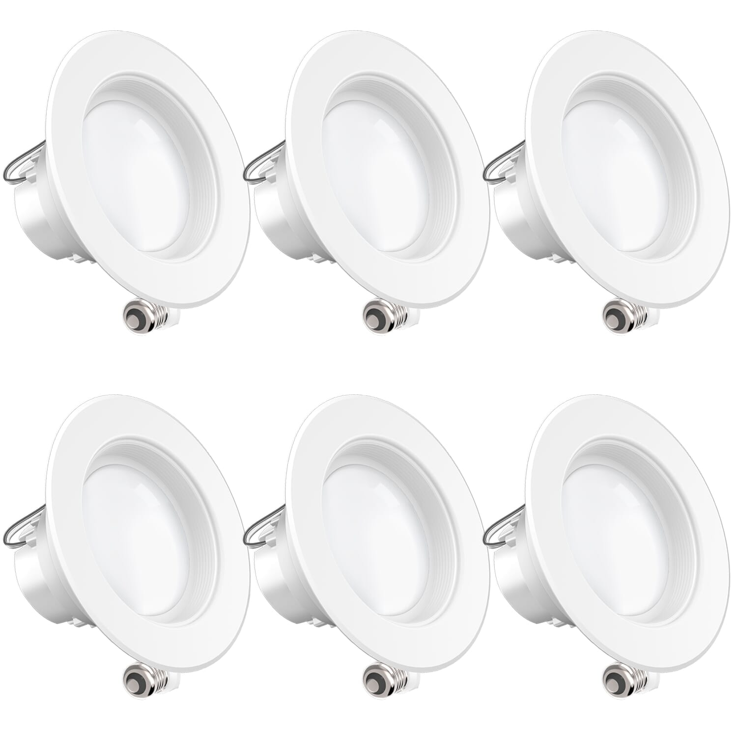 sunco lighting 6 pack 4 inch led recessed downlight baffle trim dimmable 11w 40w 5000k daylight 660 lm damp rated simple retrofit installation