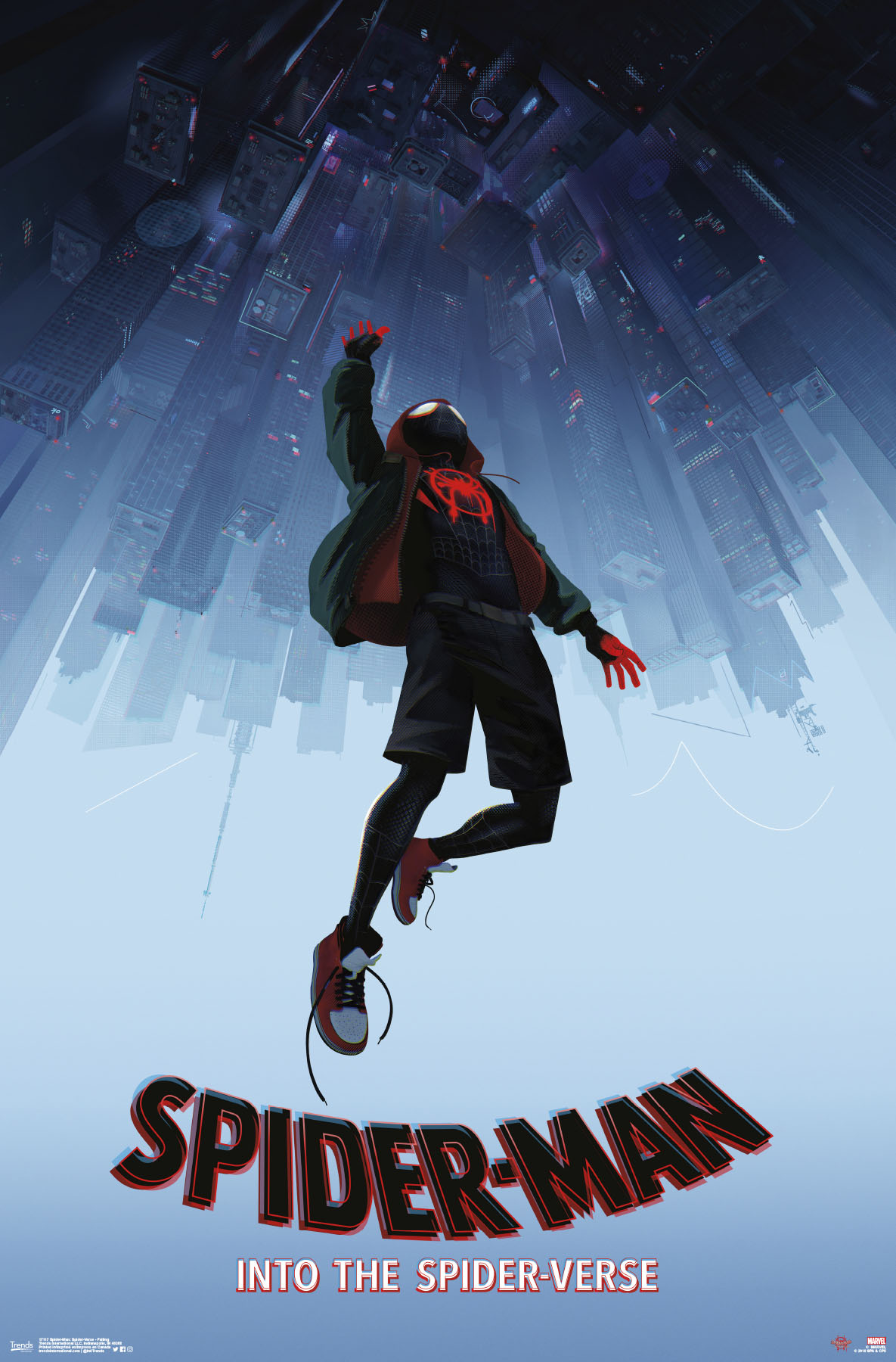 spider man into the spider verse wall poster 22 4 x 34