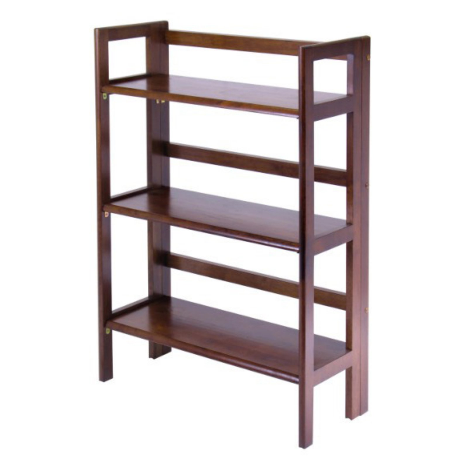 Winsome Wood 94896 3 Tier Walnut Stackable Folding Book