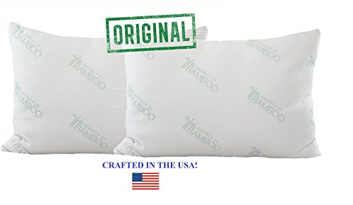 essence of bamboo pillows the original premium hypoallergenic down alternative fiber pillow with bamboo derived rayon poly cover designed and