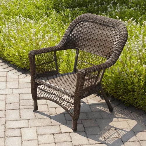 mainstays wicker chair honey brown