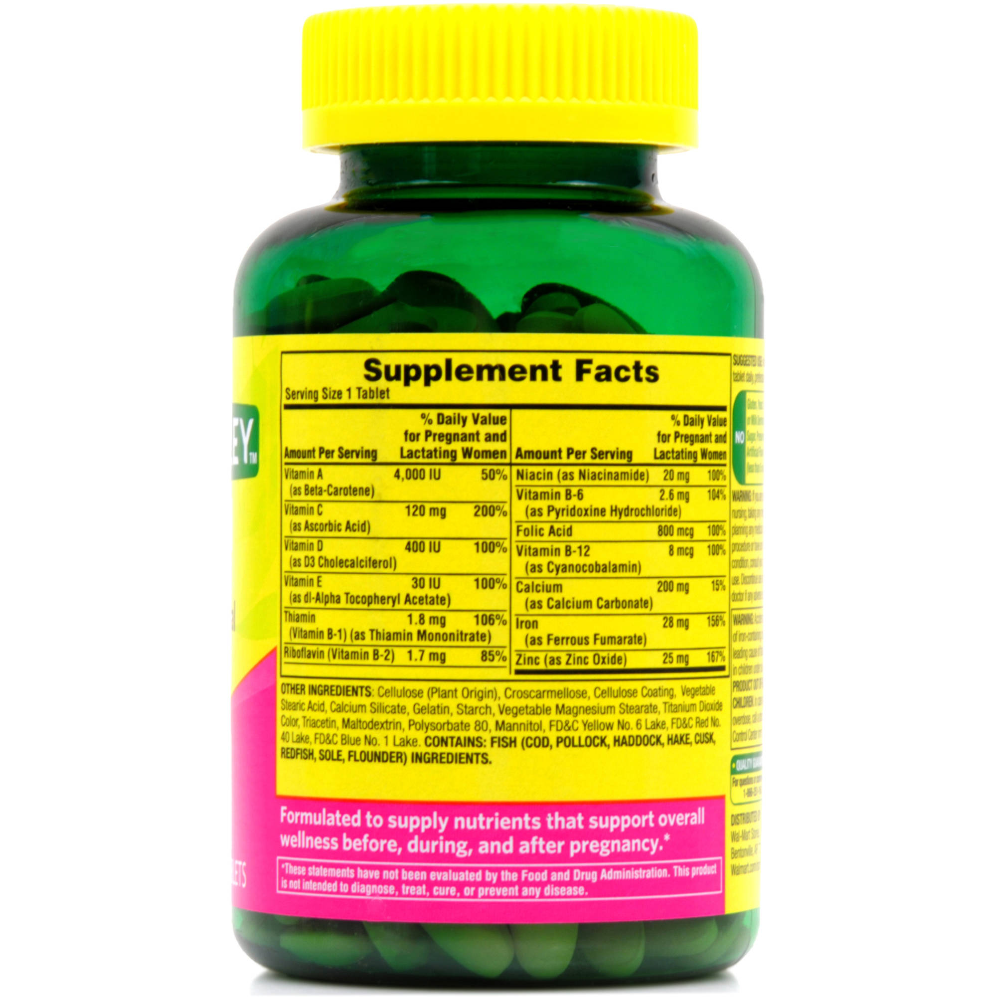 Spring Valley Prenatal Gummy Vitamins Nutrition Facts