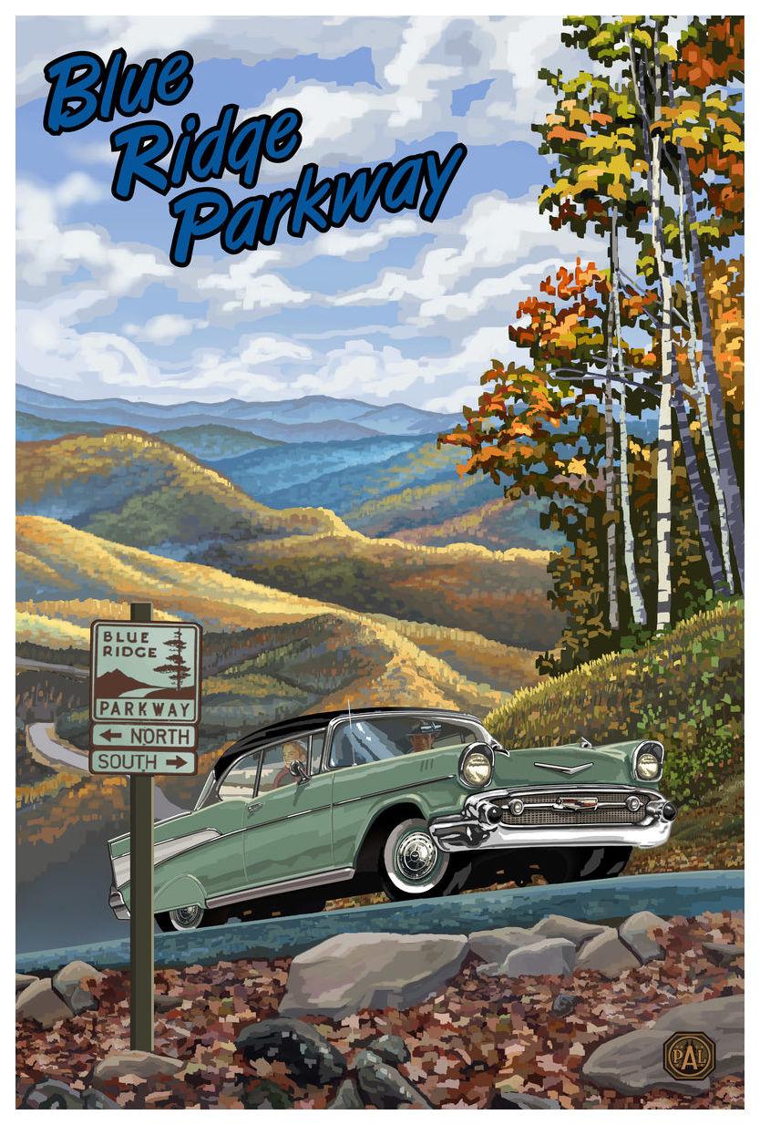blue ridge parkway giclee art print poster by paul a lanquist 12 x 18 walmart com