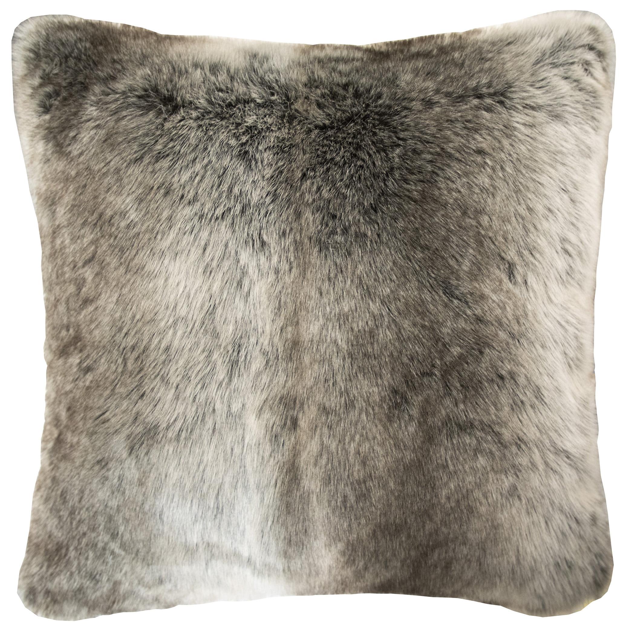 better homes gardens ombre fur decorative pillow 20 x 20 brown walmart com