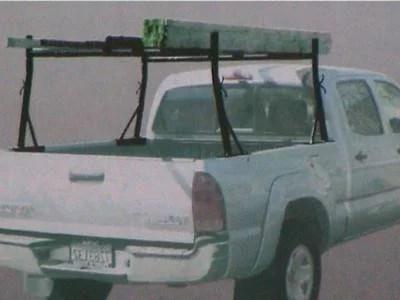 generic steel adjustable lumber ladder cargo rack holder for pickup truck bed