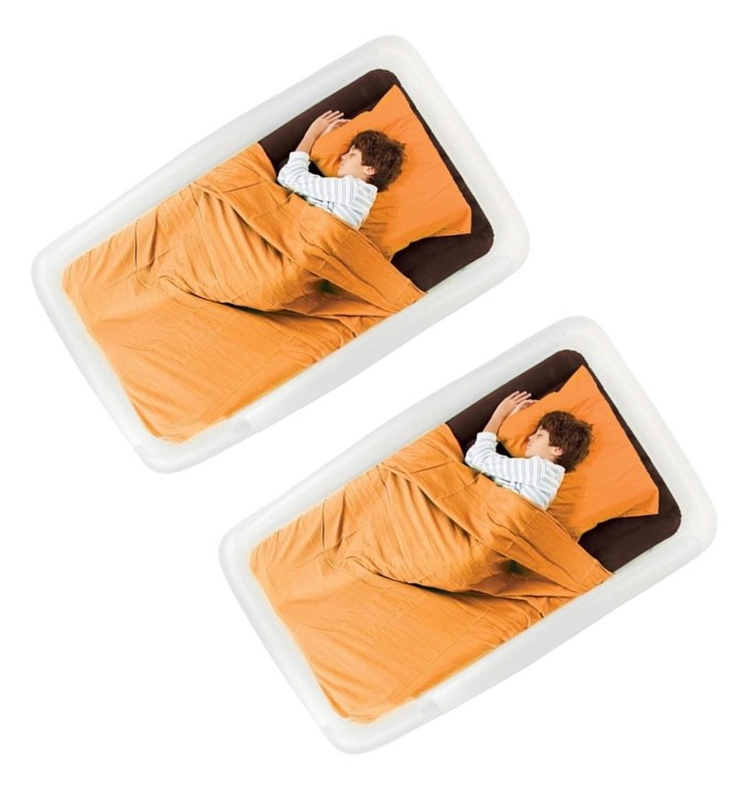 Shrunks Inflatable Twin Air Mattresses Airbeds W Security Rails 2 Pack