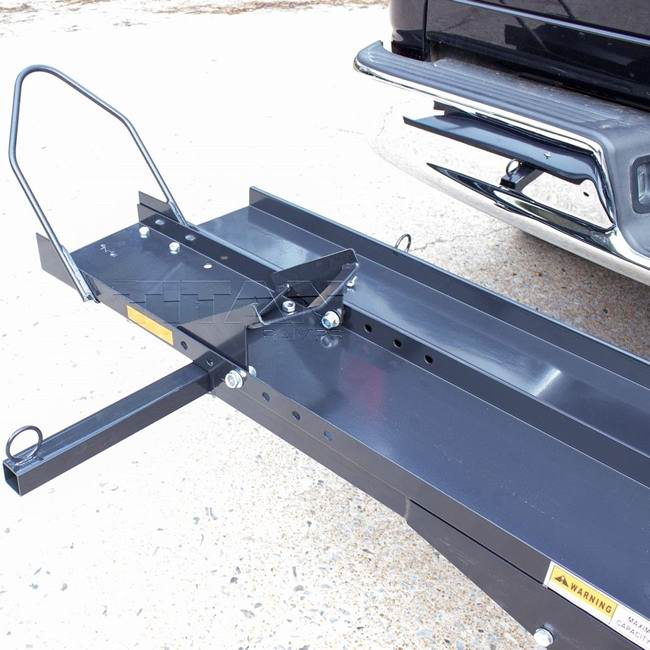 titan ramps dirt bike and motorcycle carrier sports bike rack for truck hitch walmart com