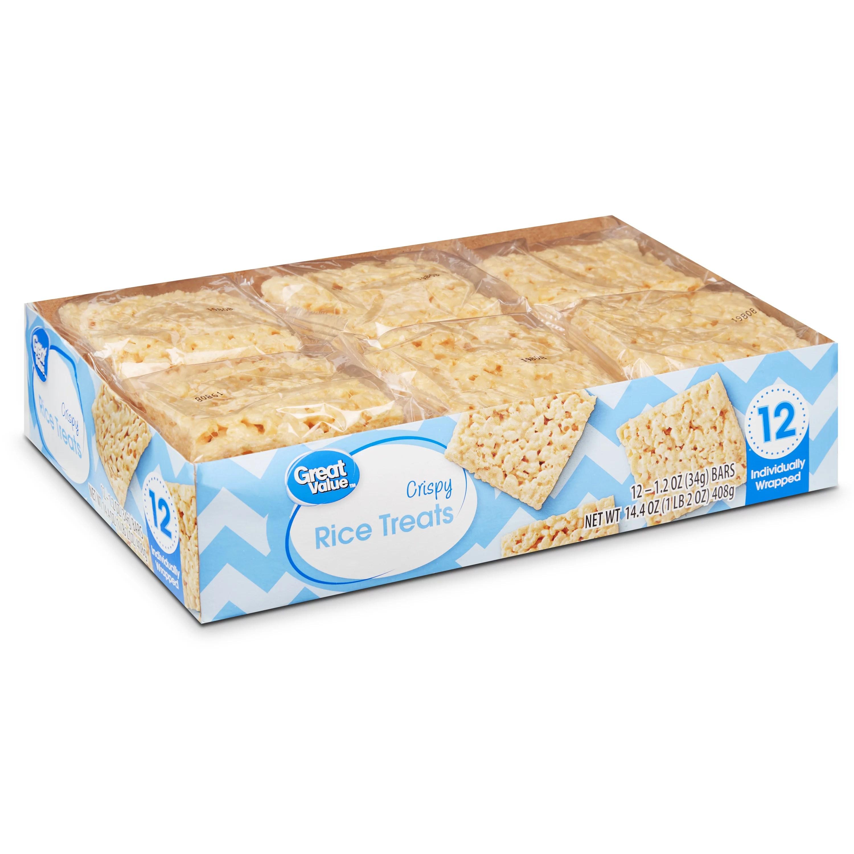 Great Value Crispy Rice Treats 1 2 Oz 12 Count Walmart Com Walmart Com