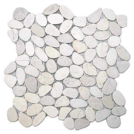 sliced white pebble tile walmart com walmart com