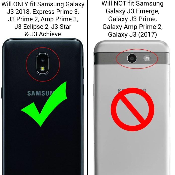 Coveron Samsung Galaxy J3 2018 Galaxy Express Prime 3 Galaxy J3 Prime 2 Galaxy Amp Prime 3 Galaxy Eclipse 2 J3 Aura Galaxy Achieve J3 Star Case Aurora Series Rhinestone Phone Cover Walmart Com Walmart Com