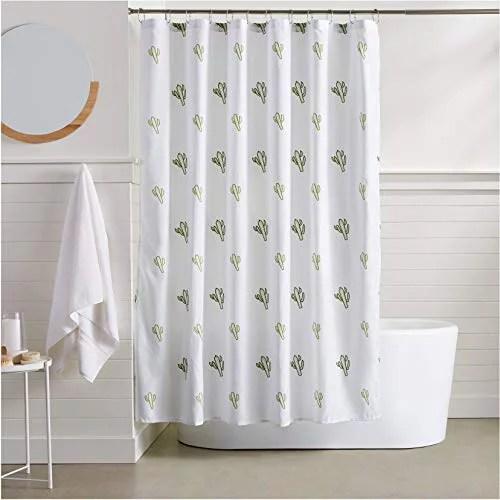 basics cactus bathroom shower curtain 72 inch