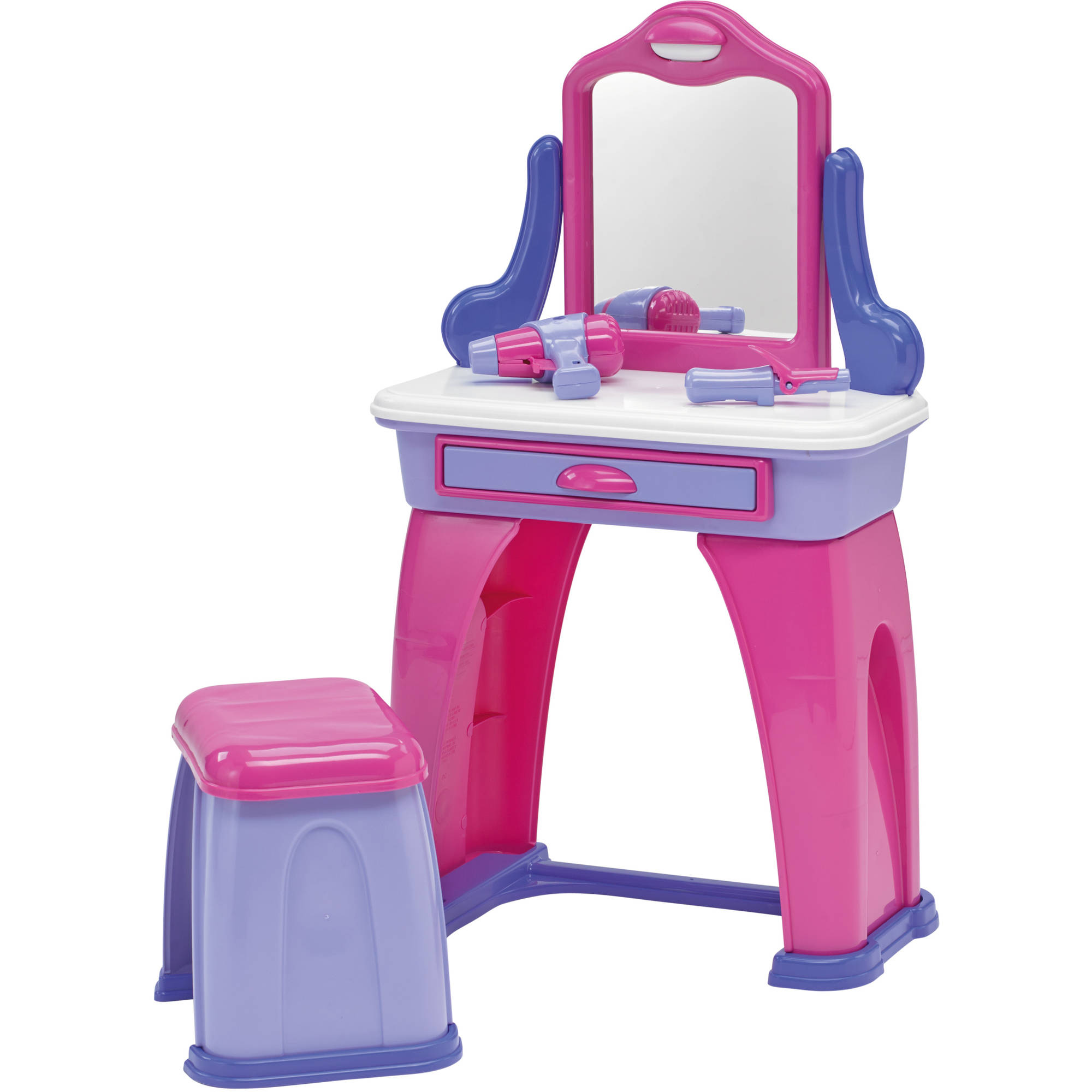 american plastic toys my very own kids vanity with 7 accessories walmart com