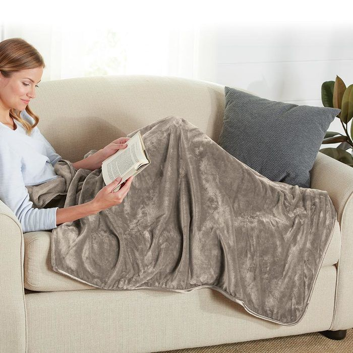brookstone nap footed throw