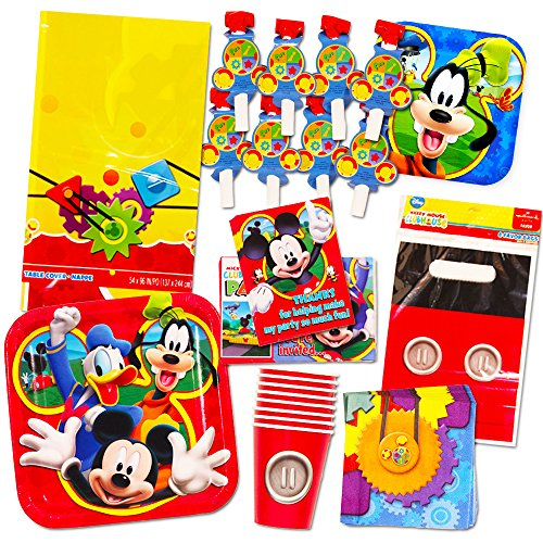 Mickey Mouse Party Supplies Ultimate Set 95 Pieces Party Favors Birthday Party Decorations Plates Cups Napkins Table Cover And More Walmart Canada