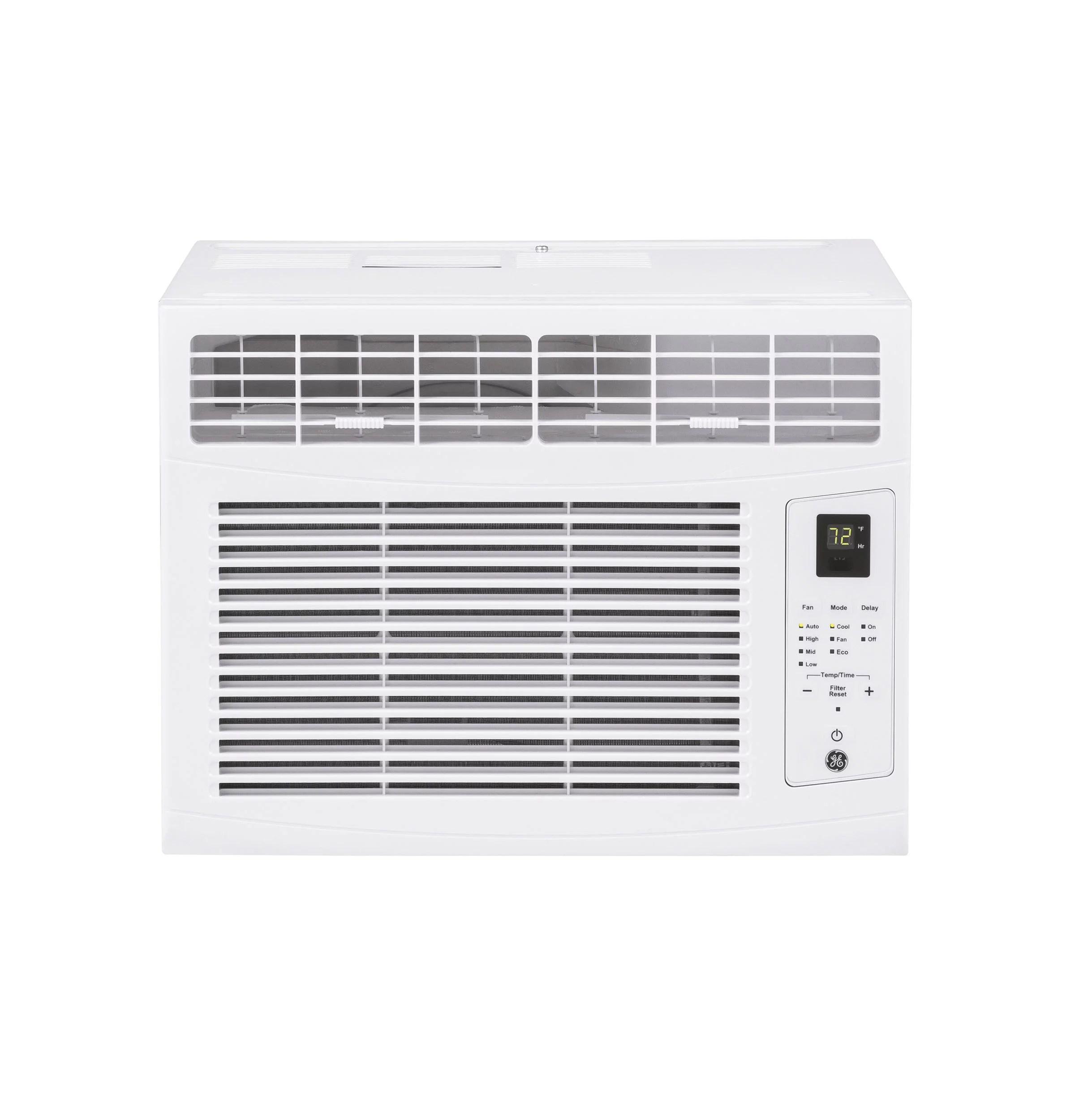 ge 5 000 btu 115 volt window air conditioner with remote ahw05lz white walmart com