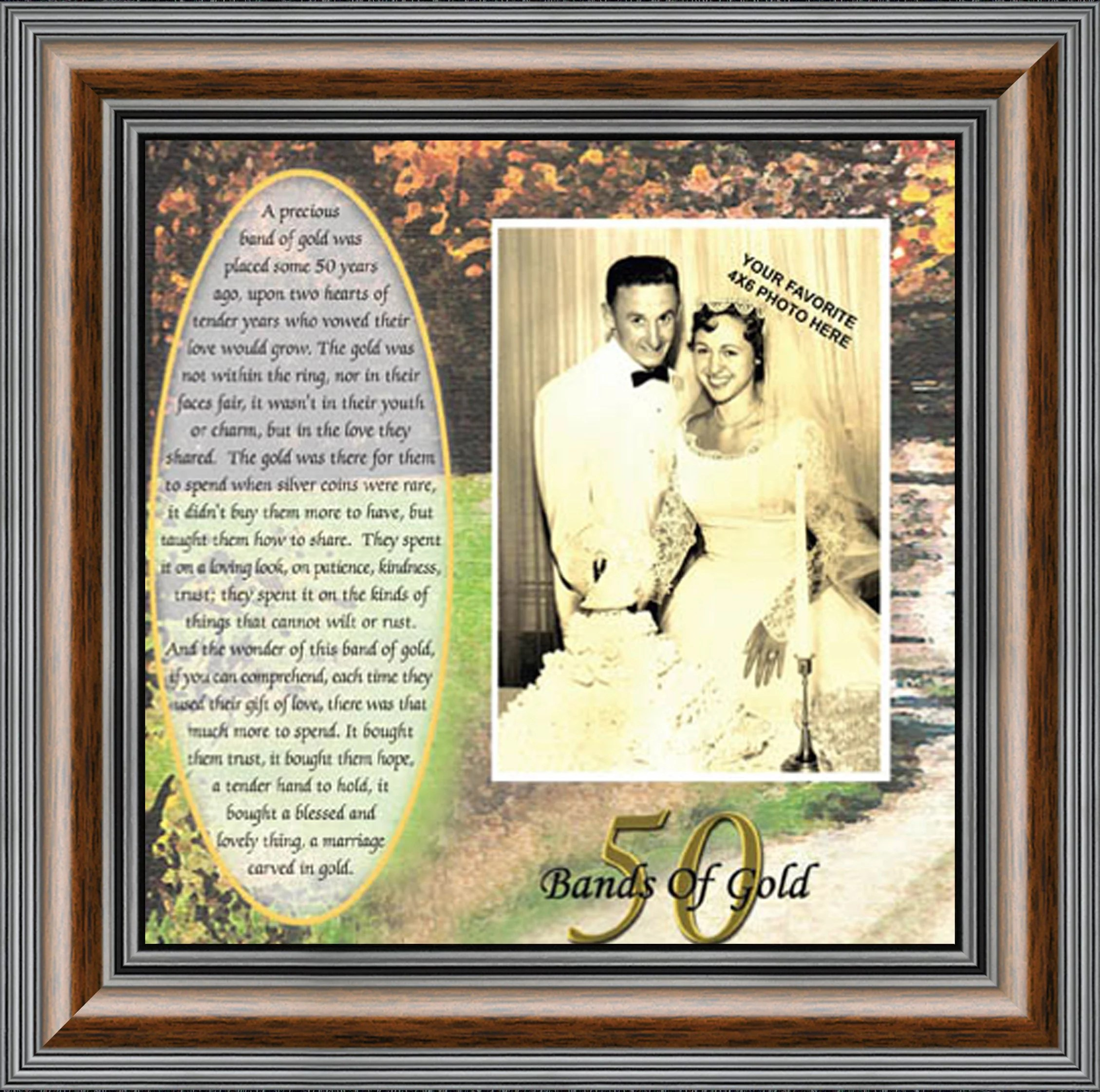 50th Wedding Anniversary Gifts For Parents Or Couples 50th Anniversary Decorations For Party Golden Anniversary 50 Year Gifts Gift To Add To A 50th Anniversary Card 6779 Walmart Com Walmart Com