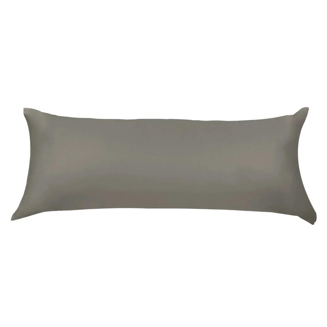 unique bargains egyptian cotton long body pillow cover black 20 x60