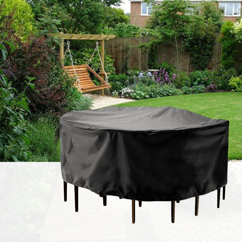 round table dust cover outdoor waterproof garden patio furniture covers outdoor table cover round table cover