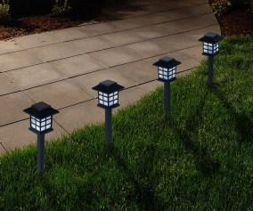Pure Garden Outdoor Lantern Solar Landscaping Lights Set Of 6 Walmart Com Walmart Com