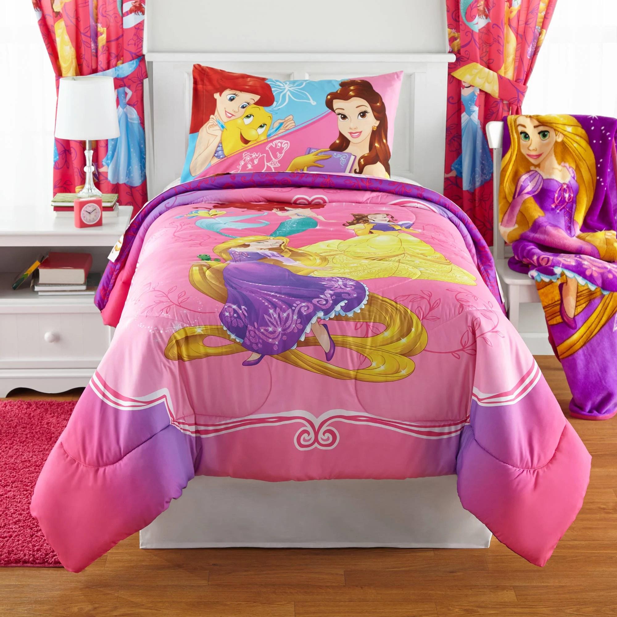 Disney Princess Bedazzling Princess Reversible Twin Full