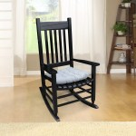 Outdoor Rocking Chair Wood Patio Bistro Chair Ergonomic Porch Rocking Chairs Indoor Outdoor Rocker Chairs W Cushions Back Support Arm Porch Glider Chair 280lbs Weight Capacity Black A1619 Walmart Com Walmart Com