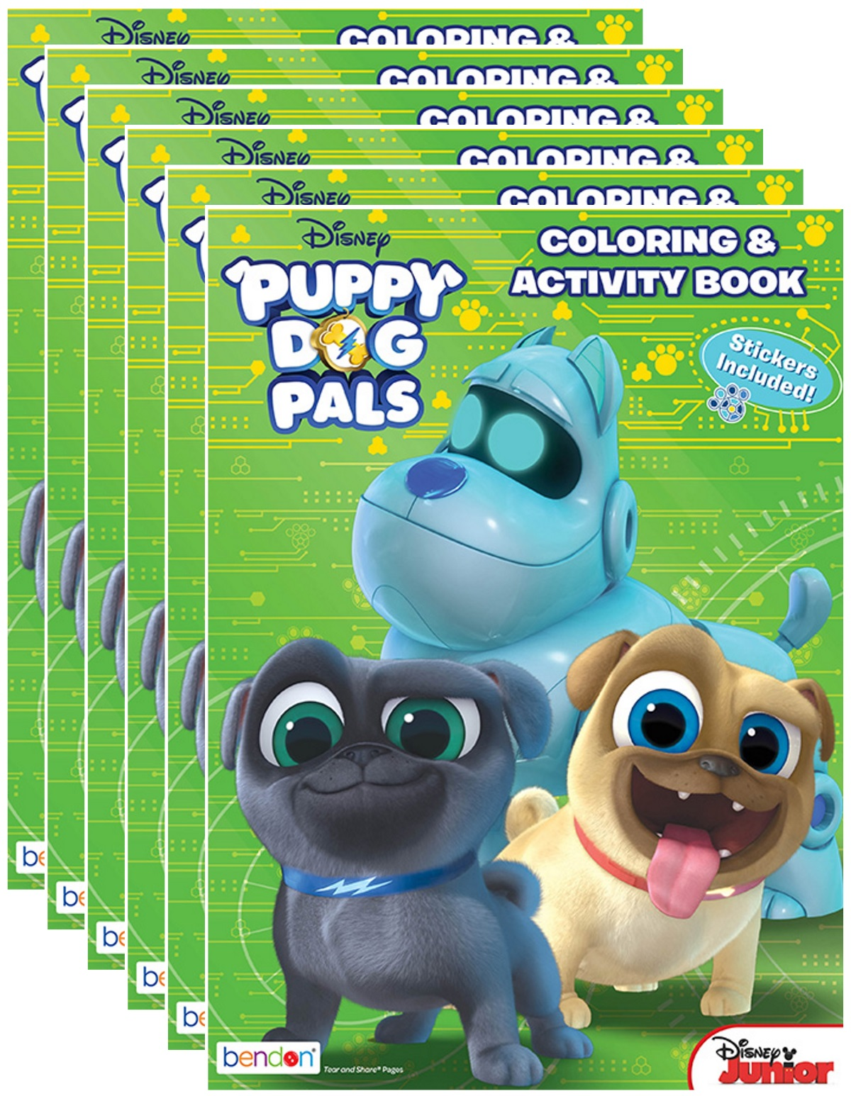 Disney Junior S Puppy Dog Pals 32 Page Coloring And