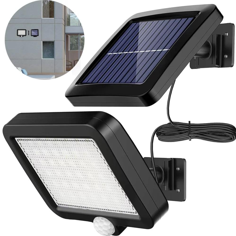 peroptimist waterproof outdoor solar lights 56 led solar powered wall light with motion sensor 120 lighting angle solar security light outdoor