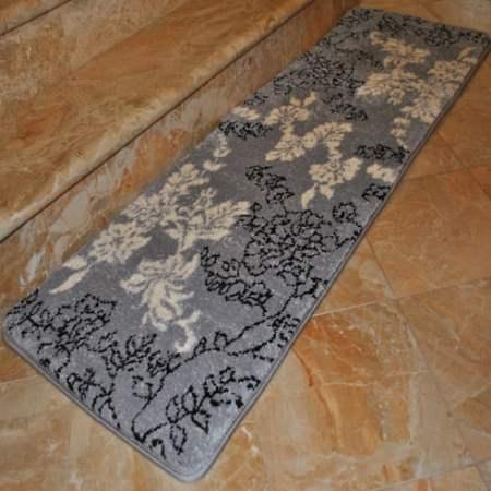 """fashion street extra-long floral memory foam bath rug, 1'8"""" x 5'4"""