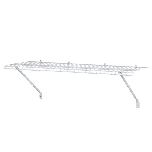 closetmaid 4 ventilated wire shelf white 1041100 walmart com