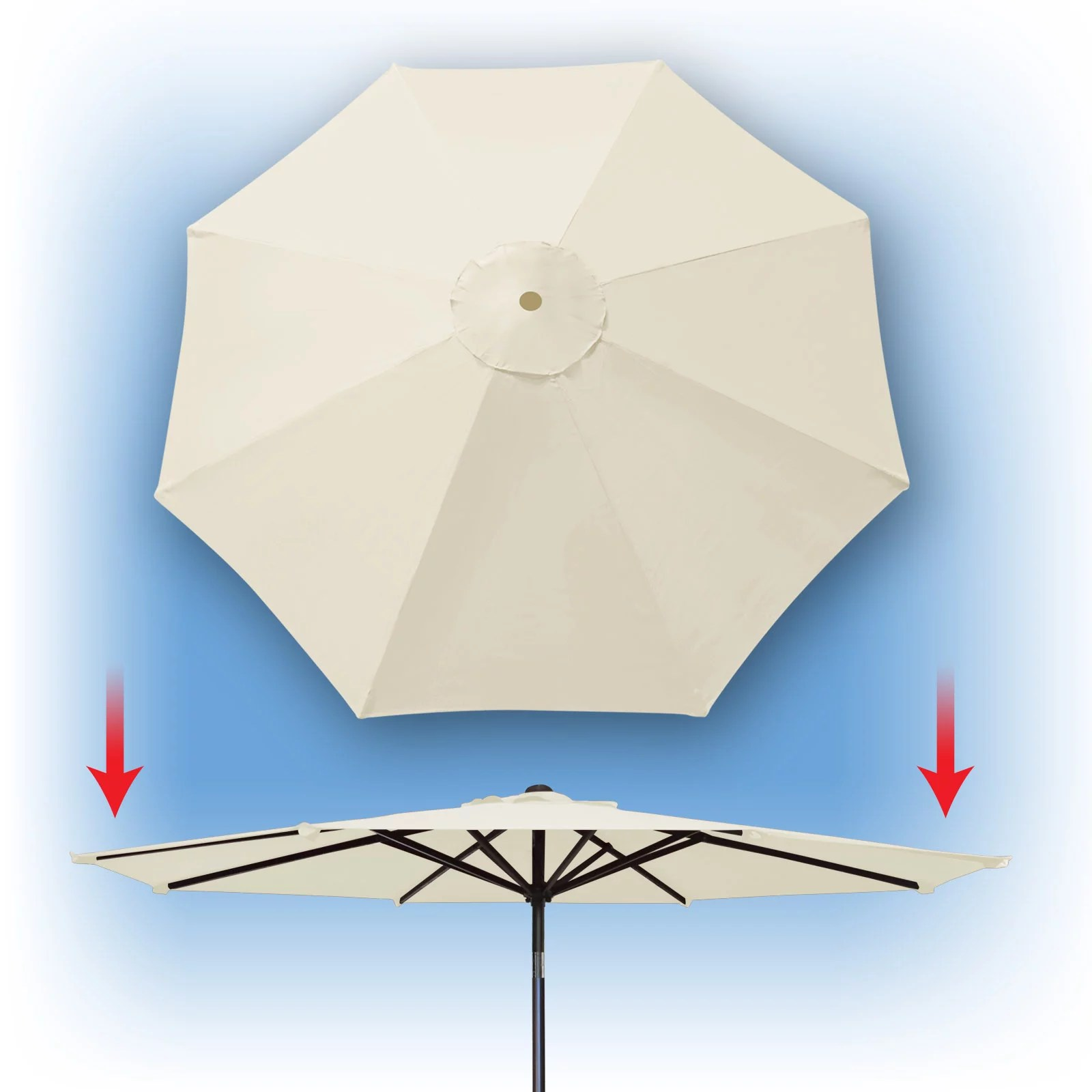 sunrise 9ft 8 ribs outdoor patio umbrella cover canopy replacement cover top ecru cover only umbrella frame not included walmart com