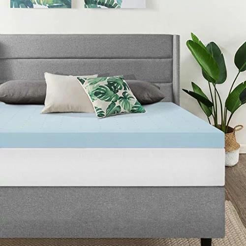 inch gel memory foam bed topper