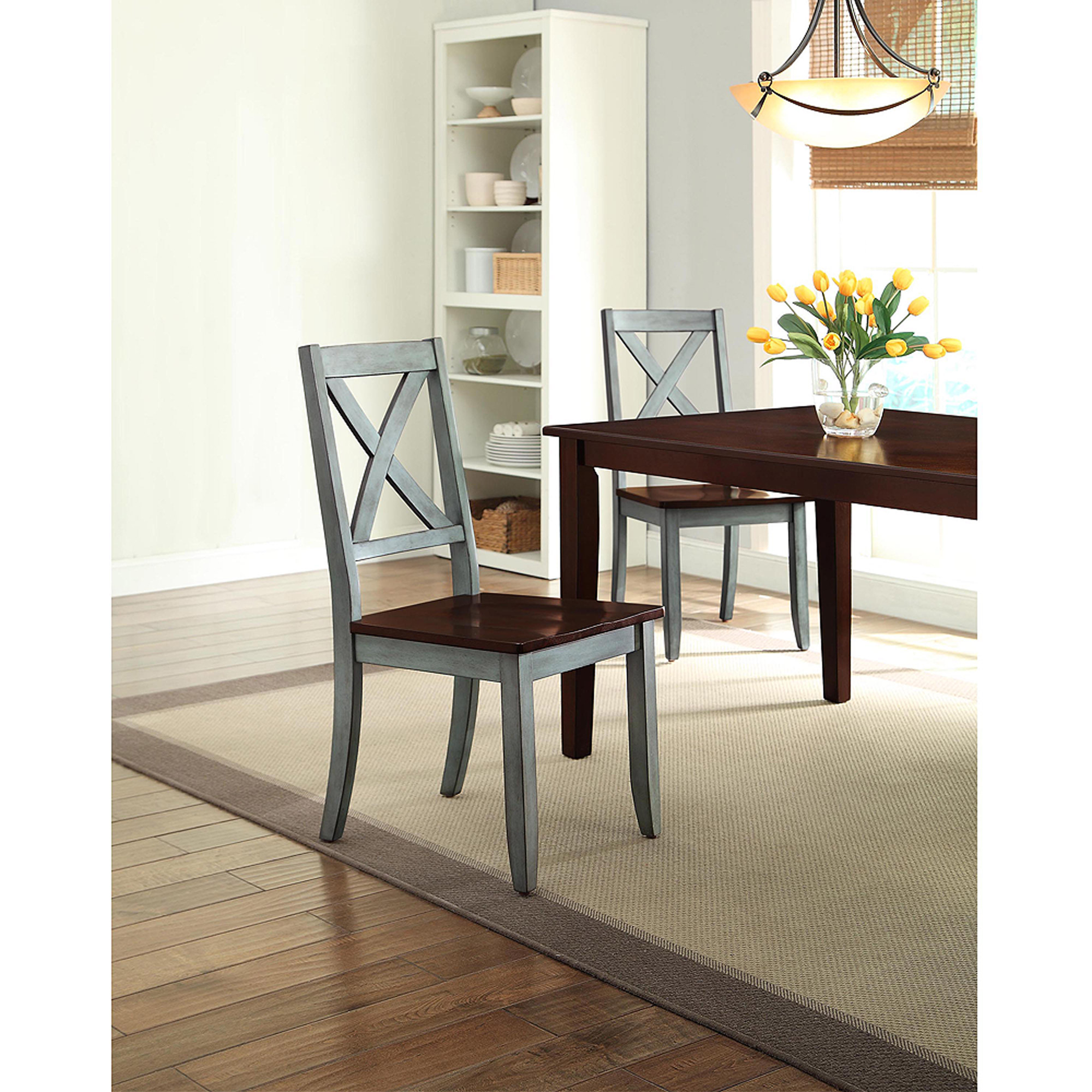 Best Kitchen Gallery: Better Homes And Gardens Maddox Crossing Dining Chair Blue Set Of of Dining Chairs Walmart  on rachelxblog.com
